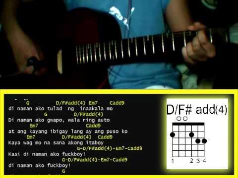 Di Ako Fuckboy by JRoa & Emcee Rhenn ft  Agsunta  - Guitar Chords