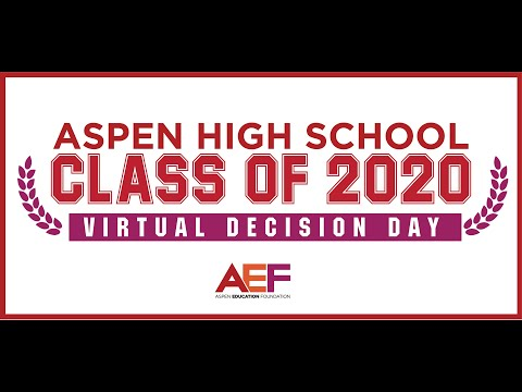 Aspen High School Class of 2020 Virtual Decision Day - more fun pics added