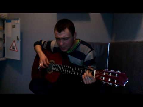 Гитара на работе!)Песня Бродяга!