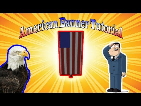 Minecraft Banner Tutorial - How To Make An American Flag Banner