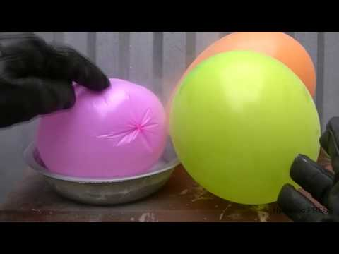 Balloons vs Liquid Nitrogen