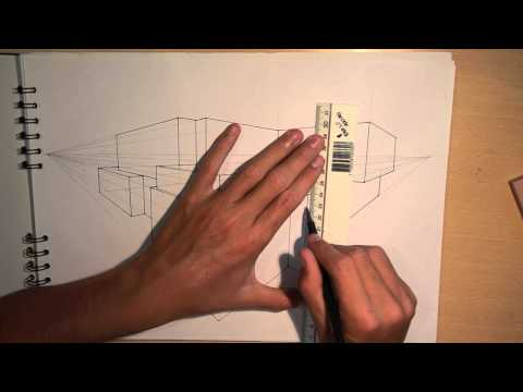 ARCHITECTURE | DESIGN #1: DRAWING A MODERN HOUSE (2-POINT PERSPECTIVE)