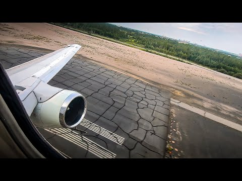 LATE ROTATION? Canadian North 737-200 FULL TAKEOFF From Yellowknife