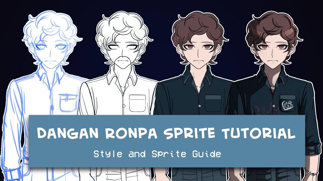Dangan Ronpa Sprites/Style- TUTORIAL
