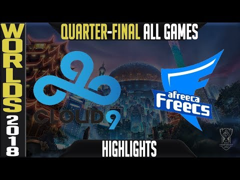 C9 vs AFS Highlights ALL GAMES | Worlds 2018 Quarter-Final | Cloud9 vs Afreeca Freecs