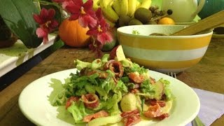 Mixed Green Salad with Turmeric Coconut Dressing ~ Live Entrée