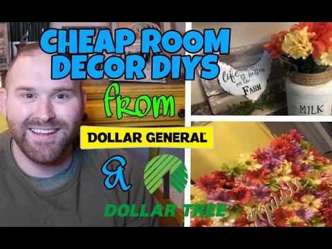 CHEAP ROOM DECOR DIYS From Dollar Tree & Dollar General