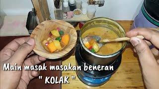 "Tiny cooking ""KOLAK"" (Indonesian food)    Main masak masakan beneran ""KOLAK"""