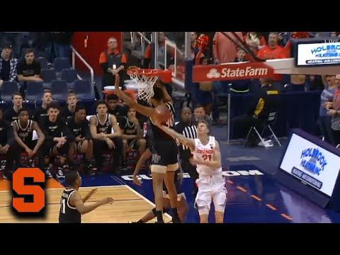 Syracuse's Marek Dolezaj Gets Fancy To Start The Game