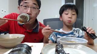 너구리 라면 김밥 가족먹방 ASMR