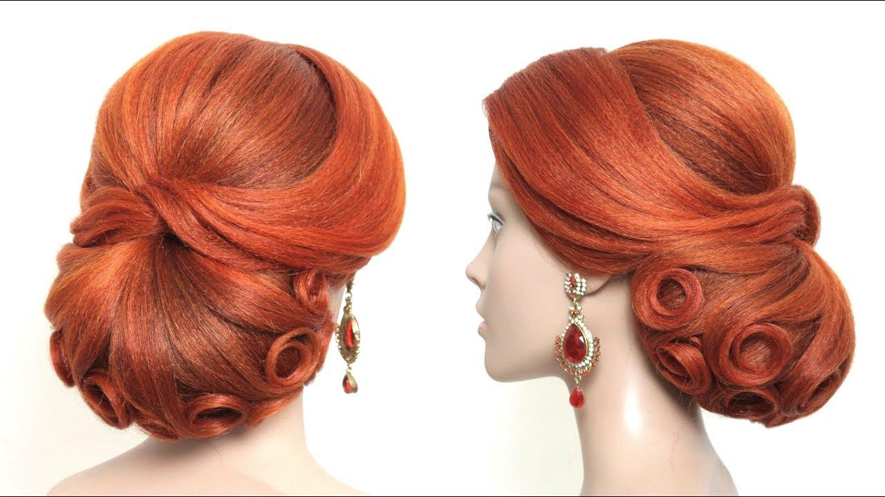 wedding bun hairstyle. new bridal updo for long hair tutorial