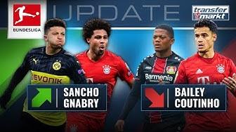 Marktwerte Bundesliga: Sancho mit Rekord – Dickes Minus für Coutinho | TRANSFERMARKT