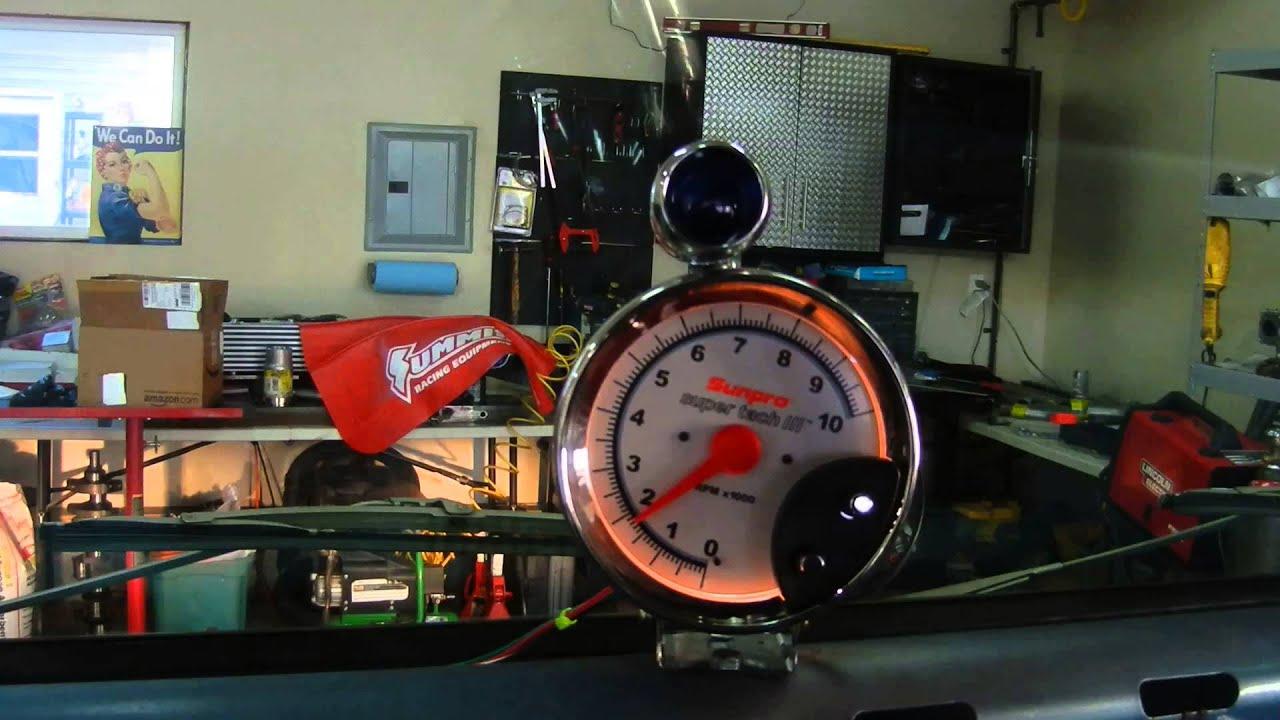 sunpro super tach 3 with shift light 5 youtube sunpro tach with shift light wiring [ 1280 x 720 Pixel ]