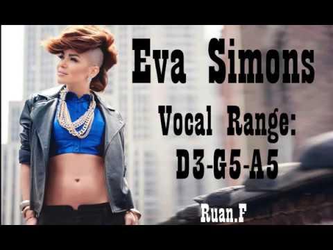 Eva Simons Vocal Range: D3 - G5 - A5