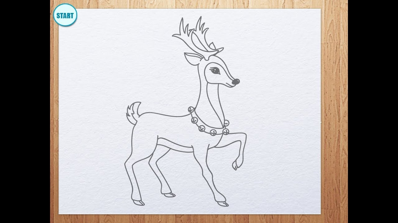 Uncategorized Drawing Of A Reindeer how to draw reindeer youtube reindeer