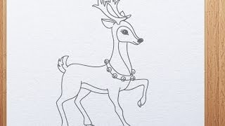 How to draw Reindeer