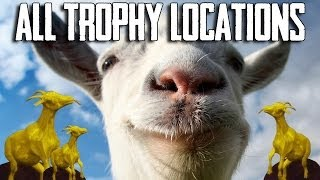 Goat Simulator ALL TROPHY LOCATIONS GUIDE