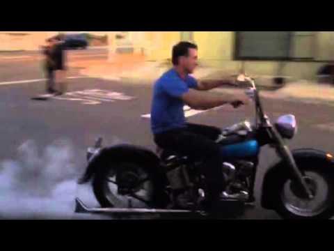 1957 Harley Panhead Shop Burnout Video IMG 8101 Tatro Machine