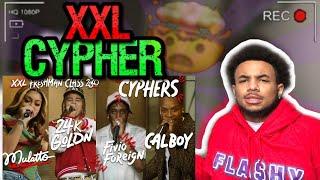 Fivio Foreign Calboy 24kGoldn and Mulatto's 2020 XXL Freshman Cypher - REACTION  🔥
