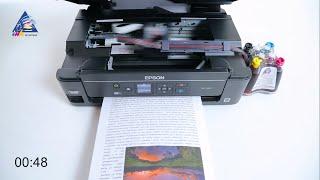 Epson PX-045A: тест на скорость печати текста. Режим \