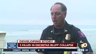 3 killed in Encinitas bluff collapse