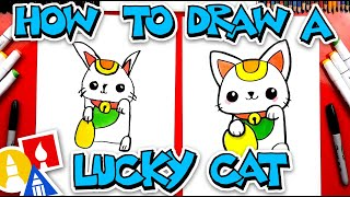 How To Draw A Lucky Cat For Chinese New Year
