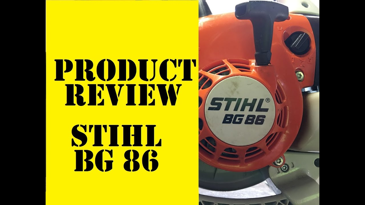 Lawn care review stihl bg 86 professional blower cut and clean product overview youtube - Souffleur stihl bg 86 ...