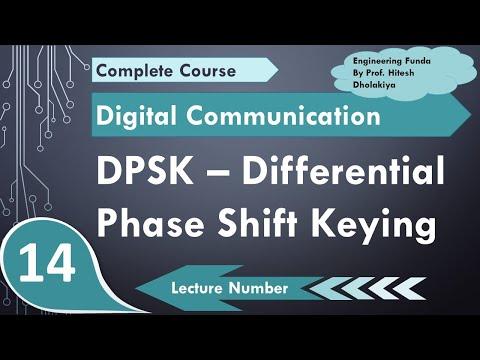 L-14 Differential Phase Shift Keying DPSK (Definition, Waveform, DPSK transmitter & DPSK receiver)
