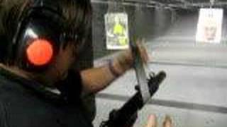 106.7 WJFK: Chad Dukes shoots his glock and a mp5 AUTOMATIC!