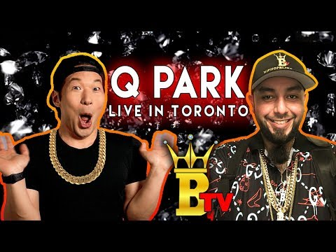 QPark live in Toronto with HipHopBling.com jewellery gifts.
