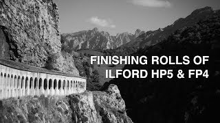 Finishing rolls of Ilford HP5 and FP4