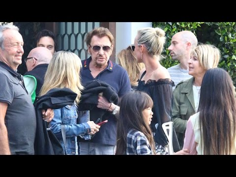 Johnny Hallyday And Family Hit Urth Cafe