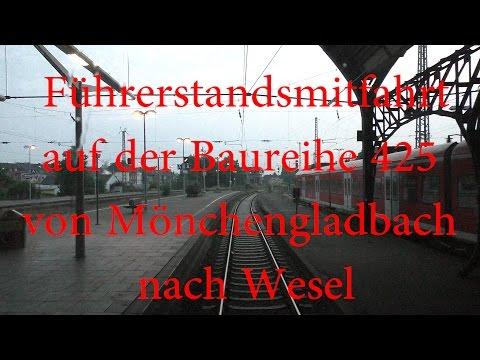 Führerstandsmitfahrt auf der RB33 von Mönchengladbach Hbf nach Wesel