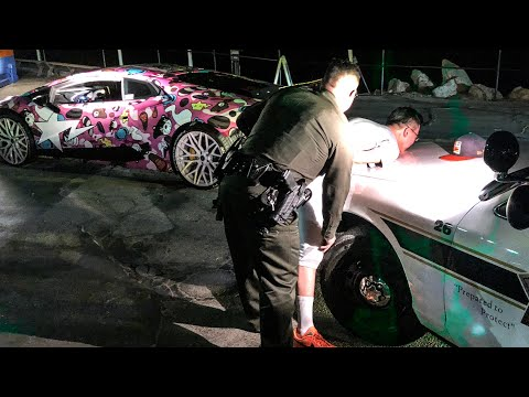 LAMBORGHINI OWNER HANDCUFFED!  ALEX CHOI DID IT THIS TIME...