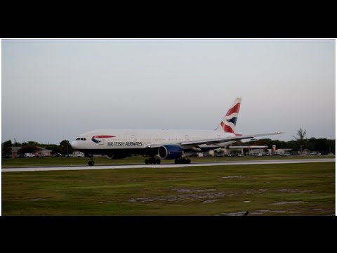 MUST WATCH! INCREDIBLE ROARING BRITISH AIRWAYS 777 DEPARTURE FROM GRAND CAYMAN