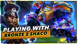 PLAYING WITH BRONZE 2 SHACO MAIN - Trick2G