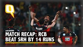 IPL 2018 | Match Recap: RCB Beat SRH To Stay Alive For Play-offs