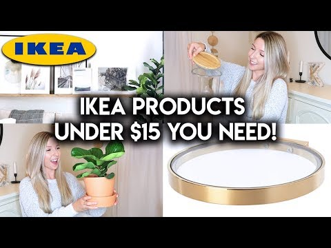 BEST IKEA PRODUCTS UNDER $15 | HOME DECOR + ORGANIZATION