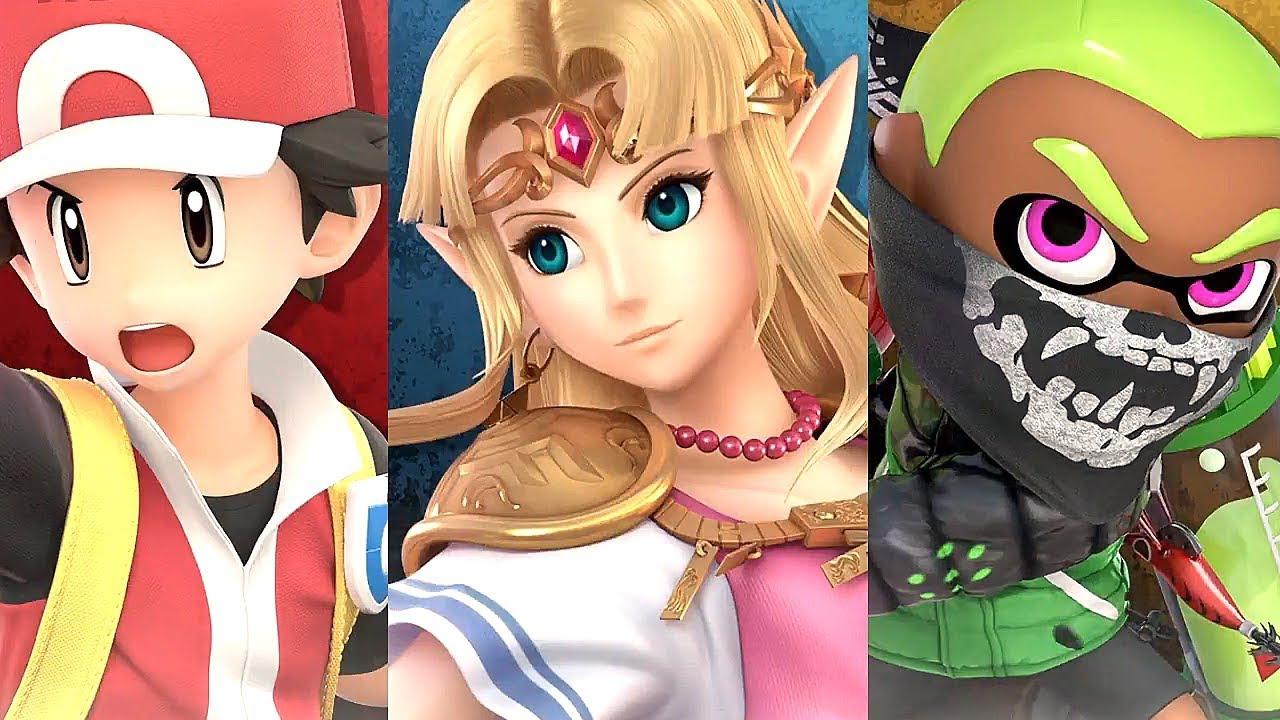 Super Smash Bros Ultimate Inkling Pokemon Trainer Zelda & Ike Gameplay + NEW Sudden Death