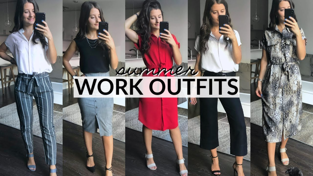 SUMMER WORK OUTFIT IDEAS | Easy & Affordable 4