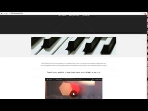 How to get Free Piano Music Sheets