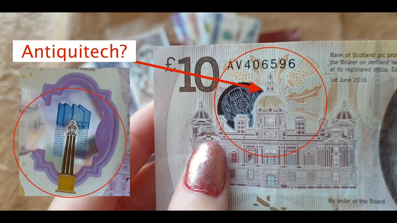 Hidden Antiquitech on Scottish Money?