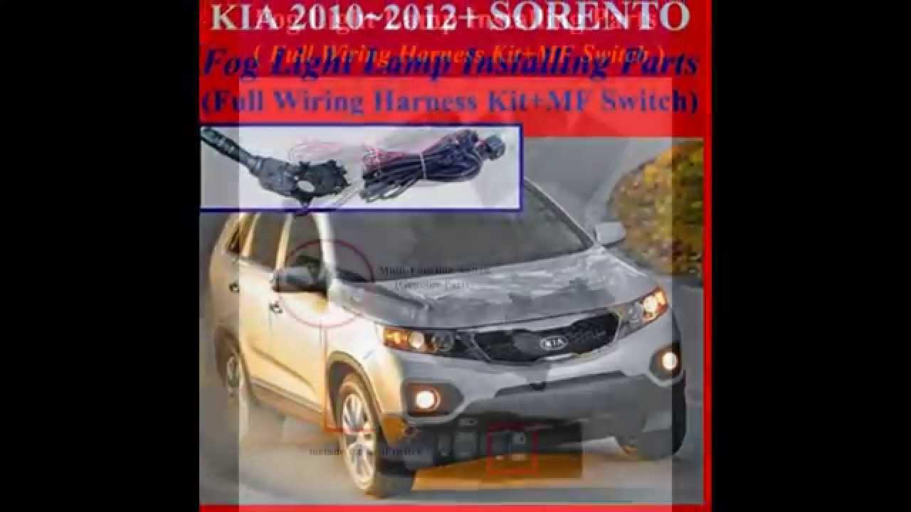 Fog Light Install Kit,Wiring Harness Kit For 2010~2012