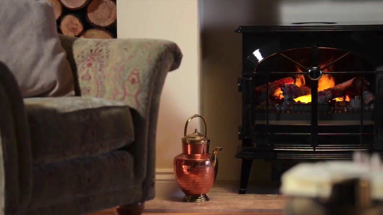 Burgate - Elektrisk öppen spis - YouTube : spis kamin : Inredning