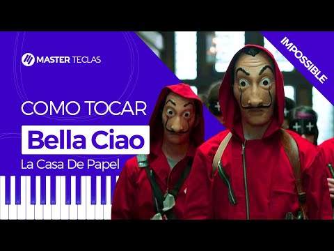 💎 Bella Ciao Impossible - La Casa De Papel  Piano Tutorial - Master Teclas 💎