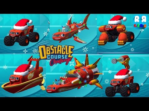 Blaze: Obstacle Course - All Blaze Holiday Hats and Lights