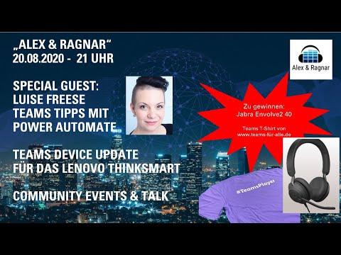 """Alex & Ragnar"" - Live Show zu Microsoft Teams - Folge 2 - 20.8.20 - 21 Uhr"