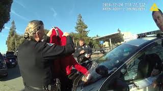 """Scott """"The Protester"""" Largent arrested by San Jose Police Department / 12.20.2016 / Chest Camera# 8"""