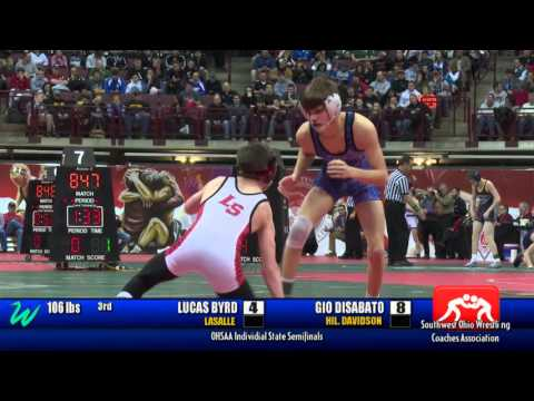 OHSAA State Wrestling Championship: Semi-Finals - March 4, 2016