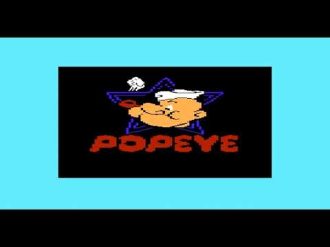 POPEYE COMMODORE VIC 20 32Kb RELEASE GAMEPLAY OF ALL 3 LEVELS COMPLETED